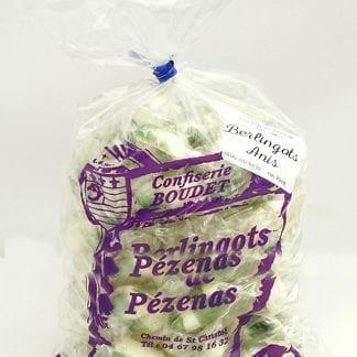 Sachet de berlingots aromatisés à l'anis (vert)