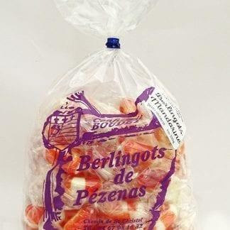 Sachet berlingots mandarine 350g vu de face
