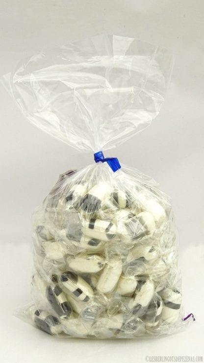 Sachet berlingots réglisse 350g avec bonbons devant