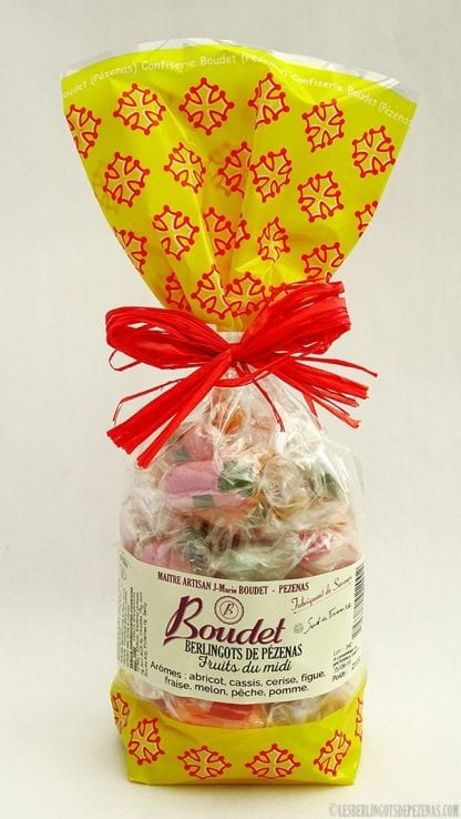 Sachet de berlingots arômess fruits du midi
