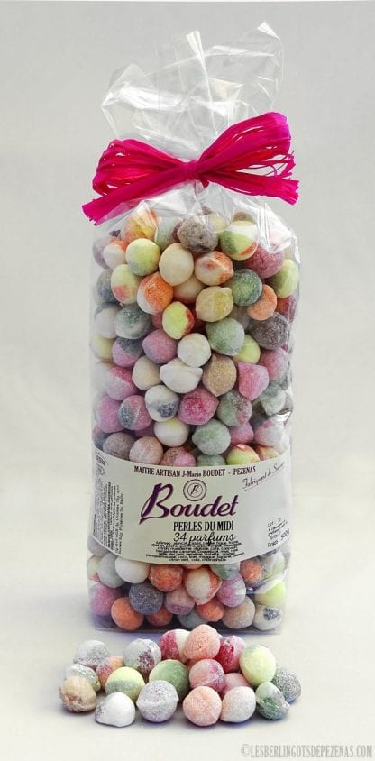 Sachet perles assorties 500g vu de face avec perles devant