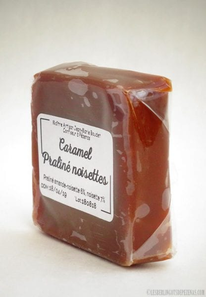 Caramel praliné noisettes vu de coté