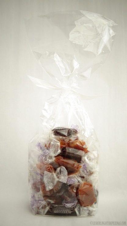 Sachet assortiment caramel 150g vu de dos