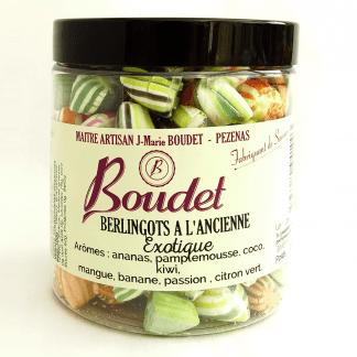 Petit pot de berlingots à l'ancienne arôme fruits exotiques