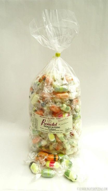Arômes exotiques 1kg avec bonbons devant