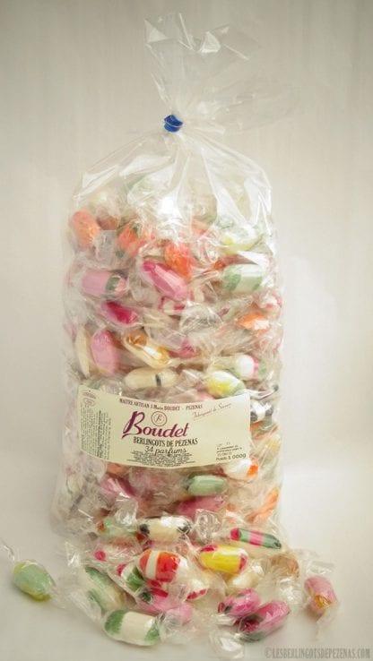 Sachet 34 parfums 1kg avec bonbons devant