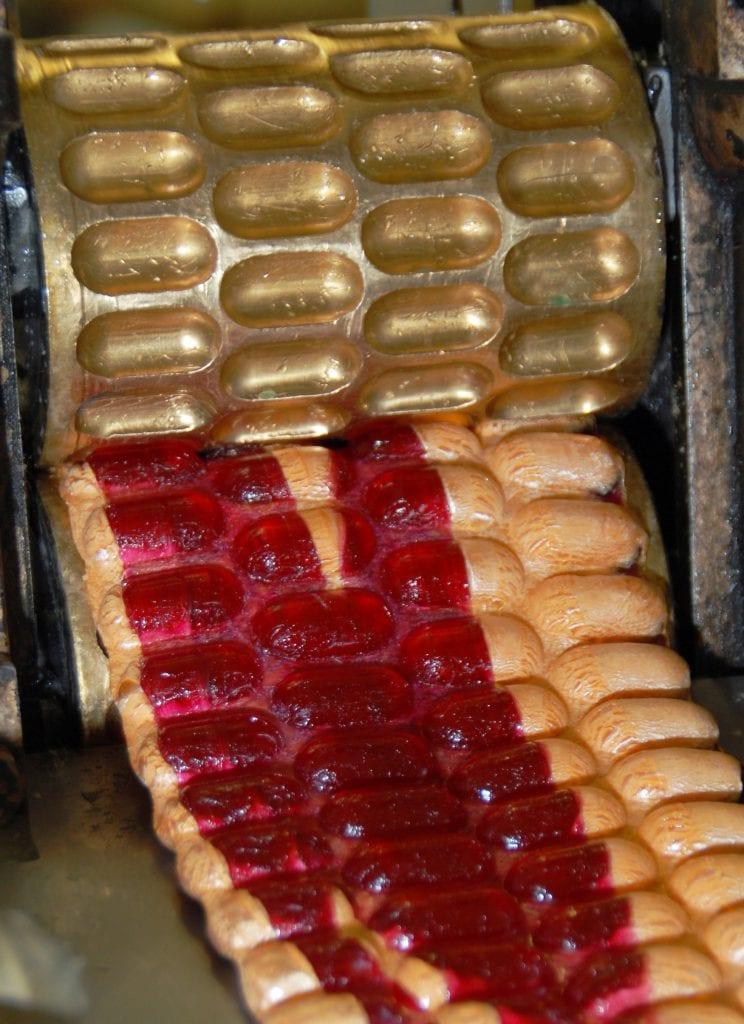 Le sucre passe dans les cylindres