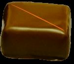 Pate de fruit à la pêche enrobée de chocolat