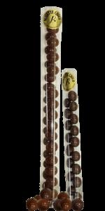 Tubes de noisettes enrobées de chocolat